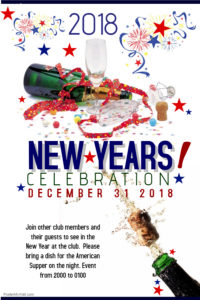 Hythe Sailing Club New Years Party (With Club DJ and American Supper) @ Hythe Sailing Club